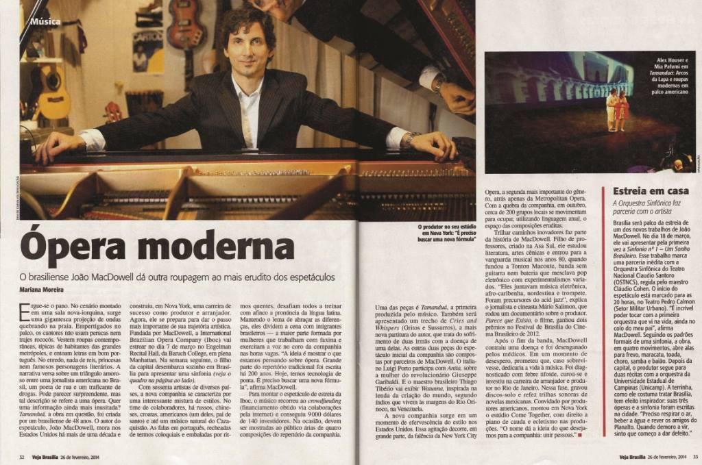 Joao MacDowell on Veja Magazine