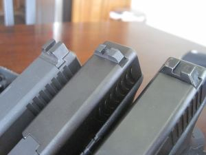 Trijicon HD, Claw EMS, Glock Rear Night Sights