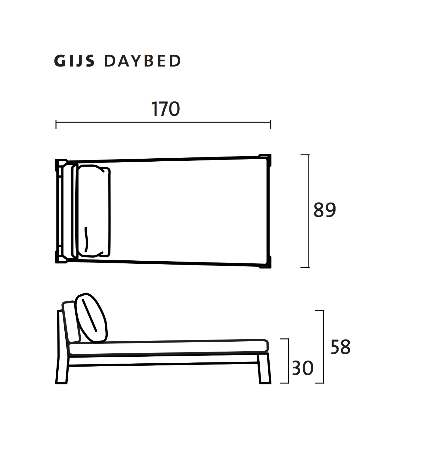 Gijs Day Bed By Piet Boon Collection