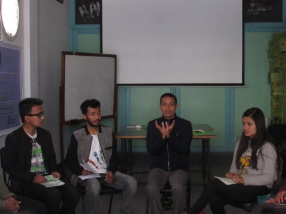 Faciliator Sidhi Bajracharya(second right) during Visioning session
