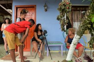Parte del trabajo consistía en buscar personajes importantes de la zona para entrevistarlos.
