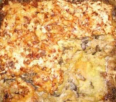 pasticcio di patate con i funghi