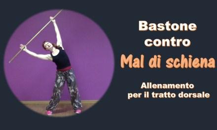 Bastone contro il mal di schiena: video allenamento per il tratto darsale