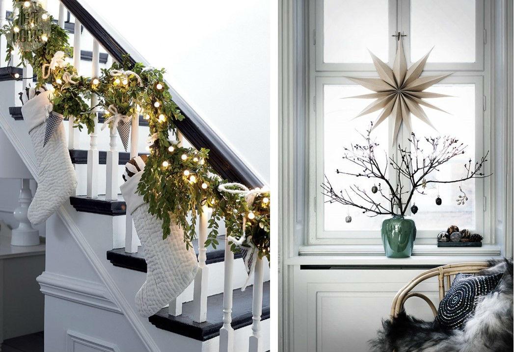 Idee natalizie per decorare la casa e le finestre