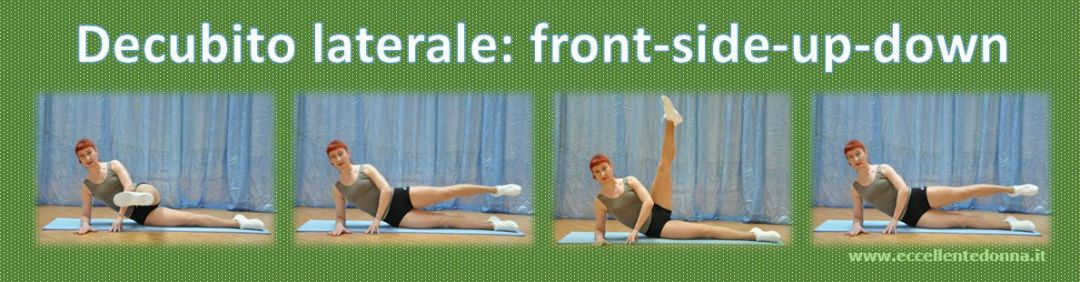 Decubito laterale: front-side-up-down Crunch obliquo