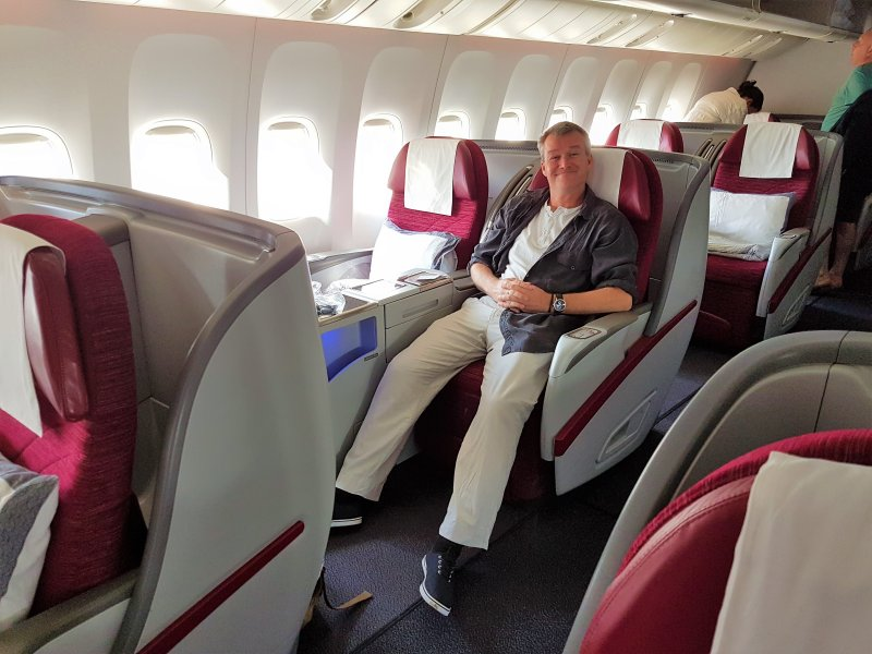 Seat Layout on the longest flight in the world