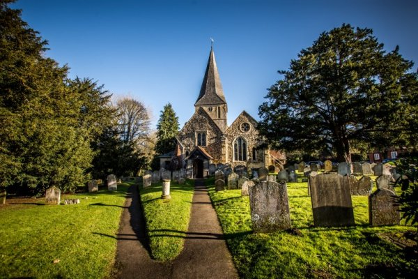 Shere church - The Surrey Hills