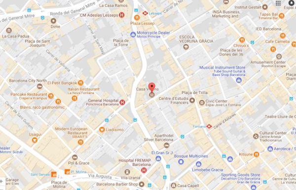 Casa Vicens Map