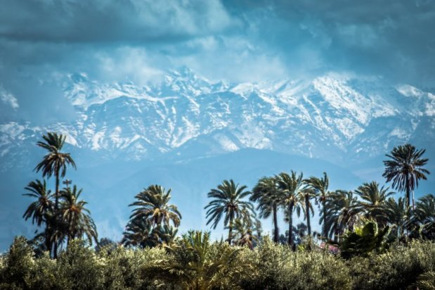 Atlas Mountains in the Distance