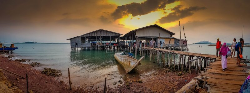 end of day Snorkelling at Abang Island
