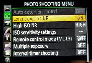 phone settings for night time photos