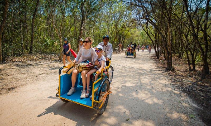 Bicycle Taxi - Coba Ruins