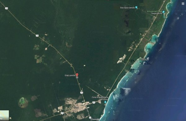 Map Gran Cenote Tulum