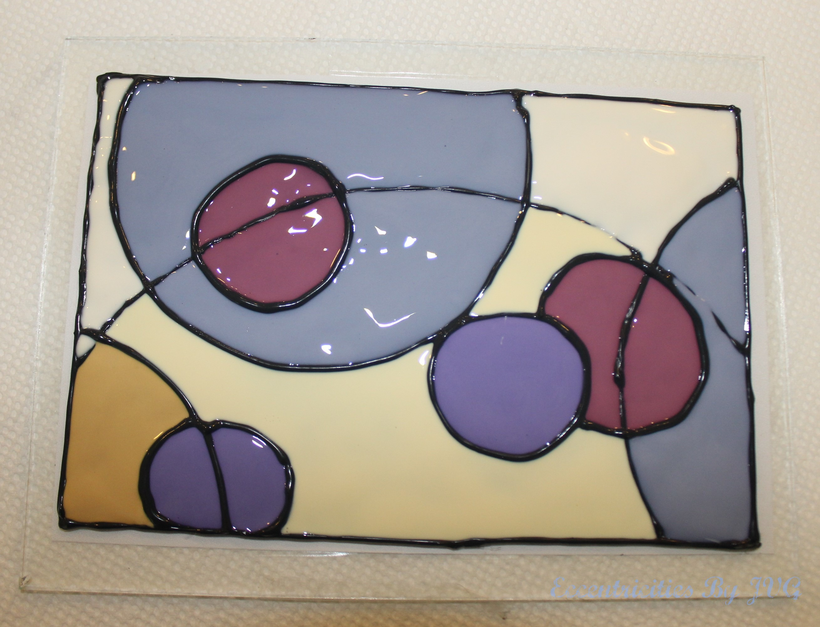 abstract style stained glass art