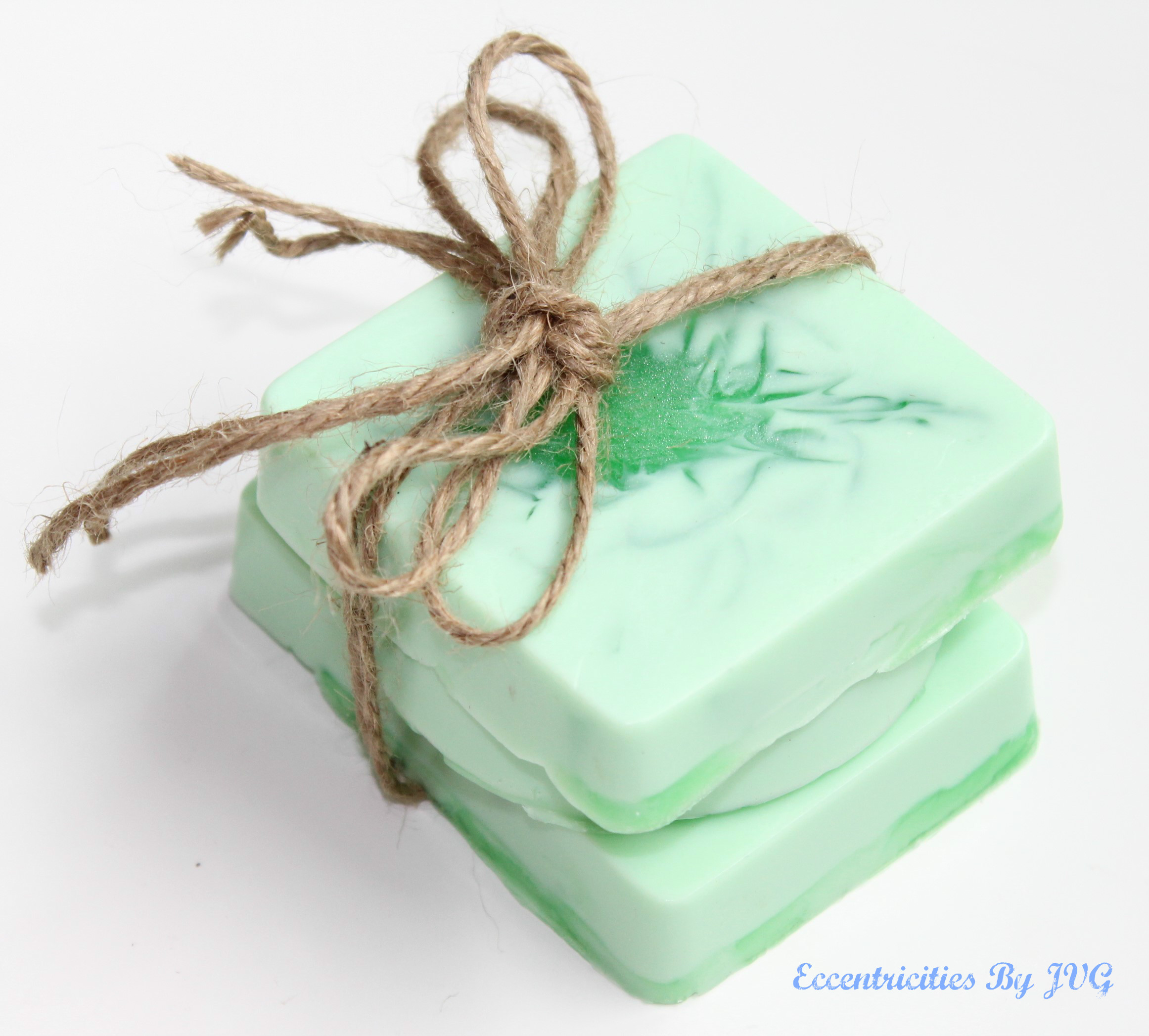 homemade soap making with fresh herbs from the garden