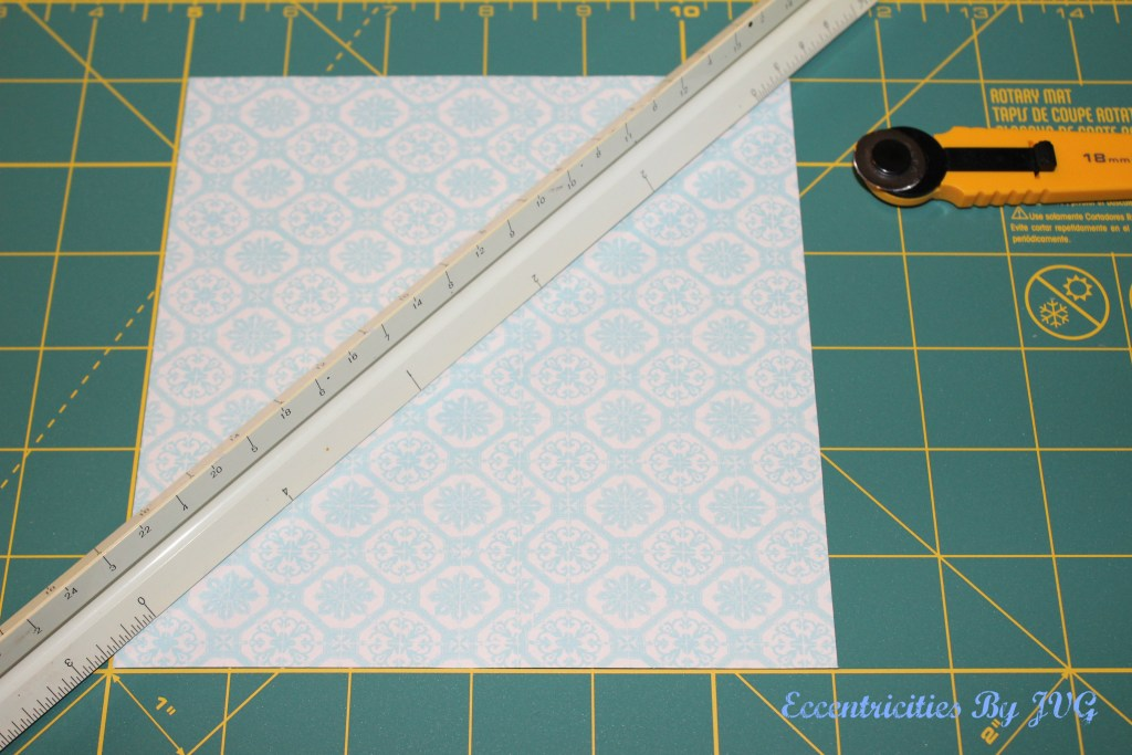 reverse decoupage - cut edges to overlap the corners