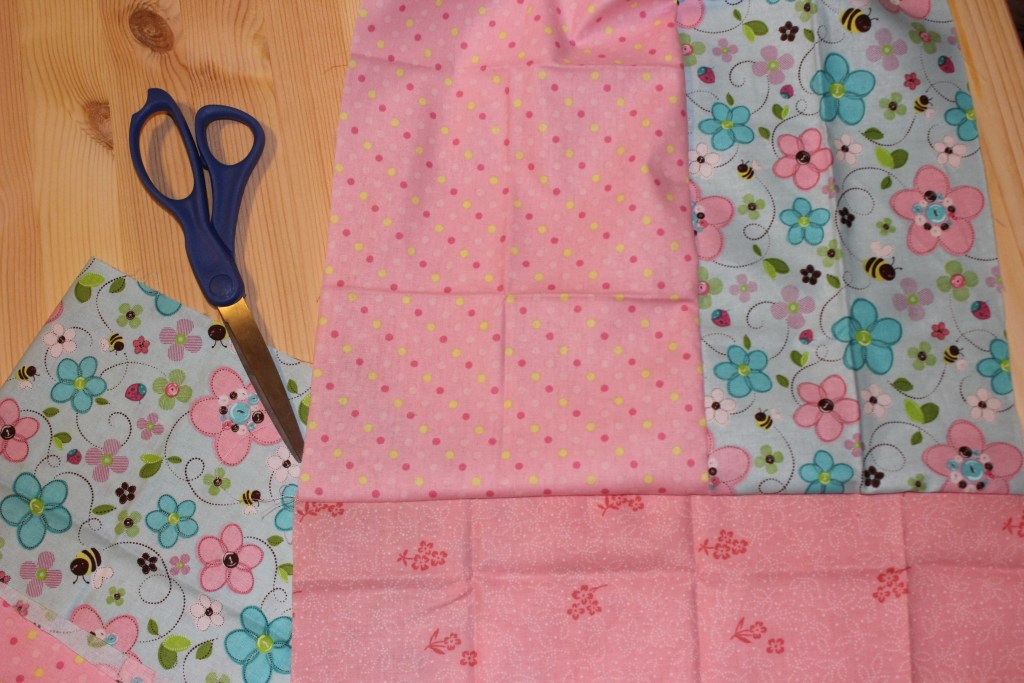 sew fabrics together like a quilt