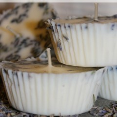 Lavender and floral soy wax candles