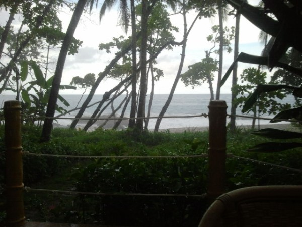 View from our beach-front bungalow. So peaceful to listen to the waves