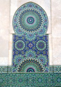 Morocco Hassan II Mosque detail
