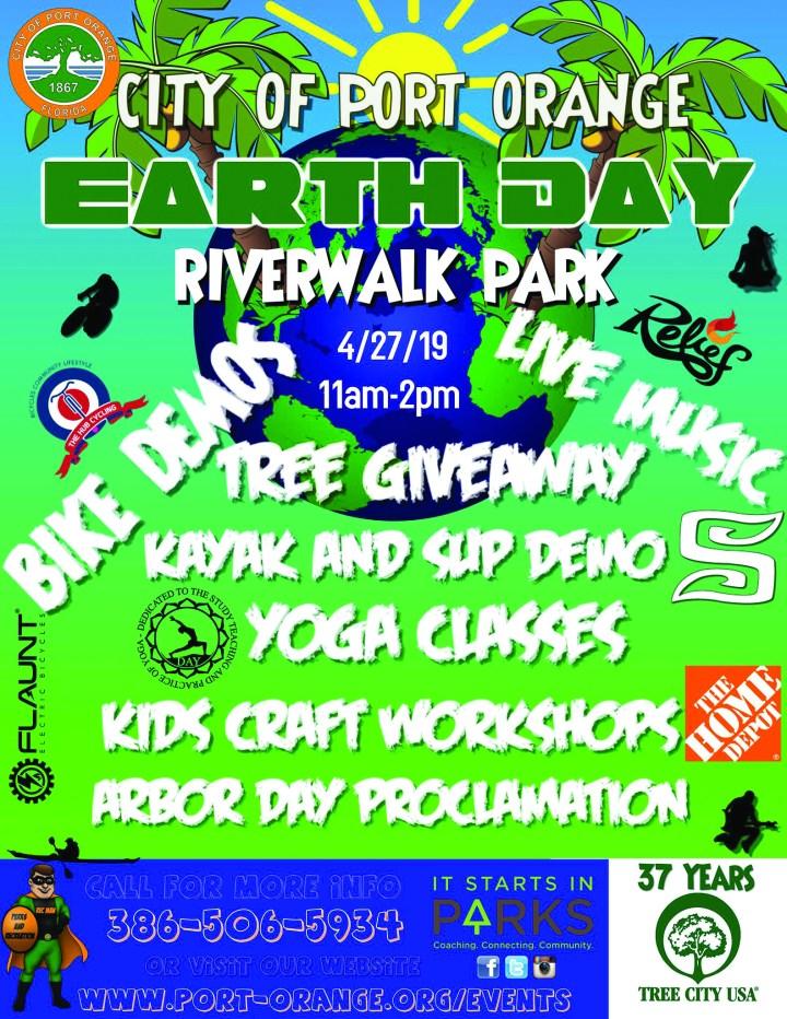 port orange earth day event poster 2019