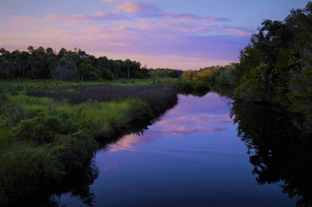 Turnbull Creek at sunset. (City of New Smyrna Beach/Phillip Veski)