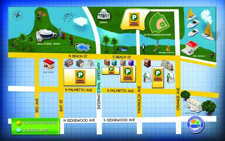 Beach Street streetscape updates map