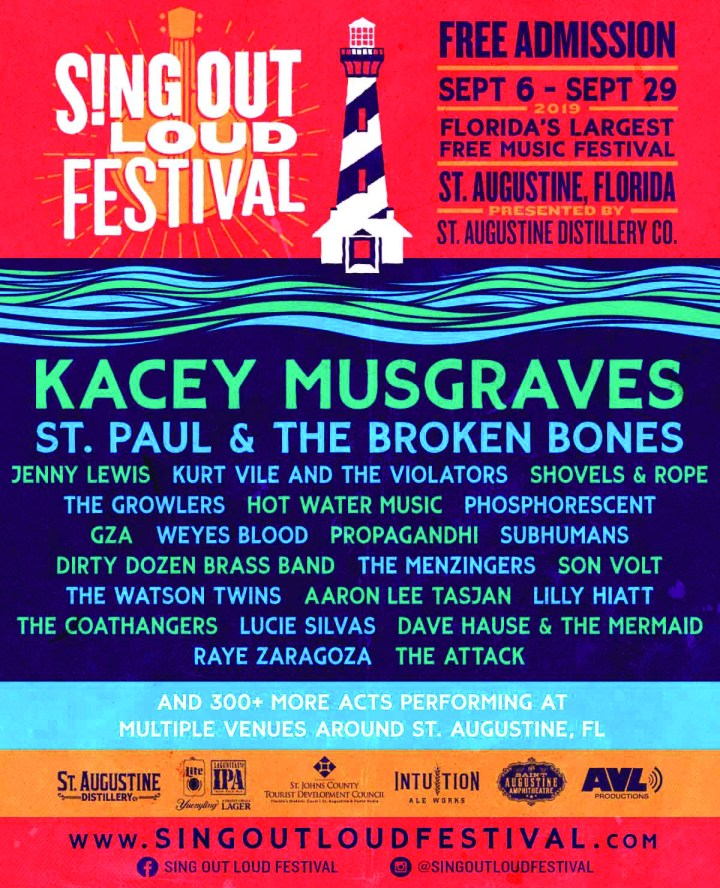 sing out loud festival poster 2019