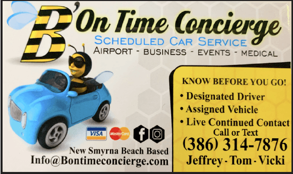 b on time concierge business card