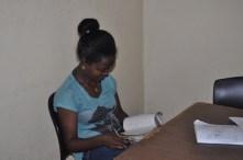 A University student studying English.