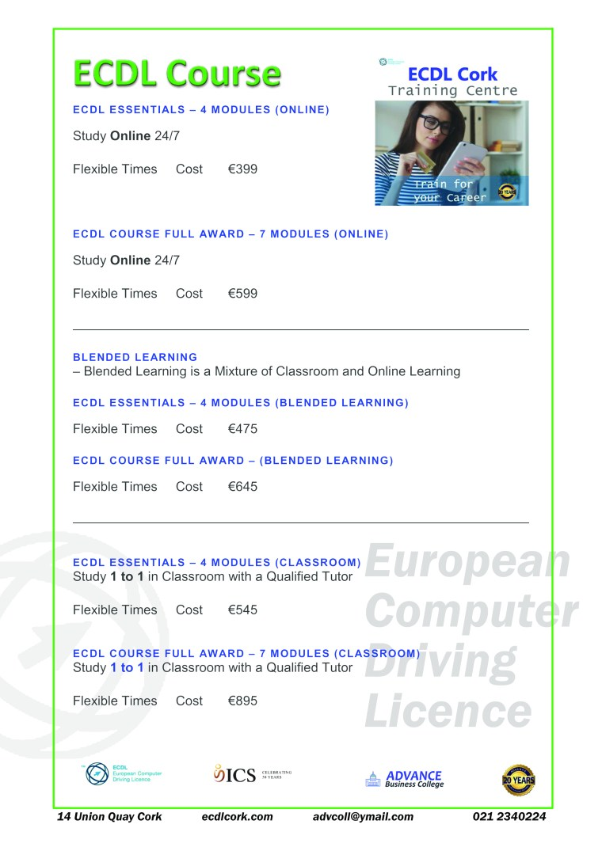ecdl course brochure