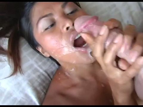 Asian Cutie Sucks And Takes A Lot Of Cum