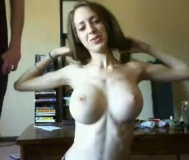 Skinny Babe With Huge Tits Gets Titfucked