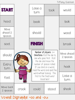 Vowel Digraphs Ou And Oo U Word Work Activities By