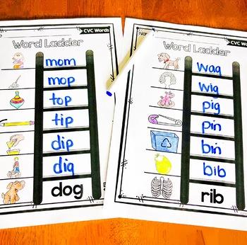 Cvc Word Ladders Free By Teacher Jeanell