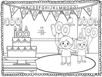 100th Day Coloring Activities Freebie