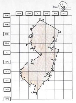 13 Colonies Latitude Amp Longitude Coordinates Puzzles