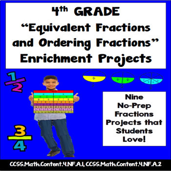 4th Grade Equivalent And Ordering Fractions Enrichment