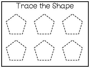 5 All About The Shape Pentagon No Prep Tracing Worksheets