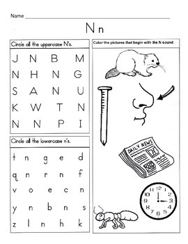 5 Letter N Worksheets Alphabet Amp Phonics Worksheets