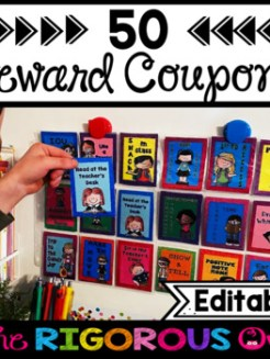 50 No Prep Classroom Reward Coupons