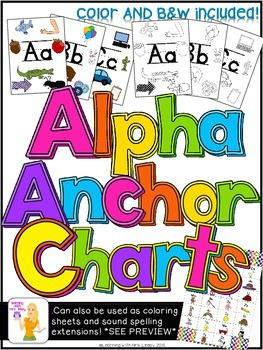 ALPHA ANCHOR CHARTS Alphabet Charts For The Classroom By Mrs Leeby