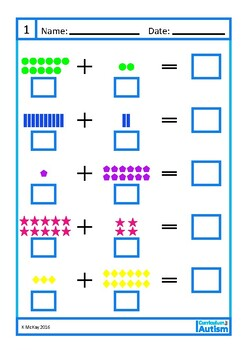 Addition 10 20 Worksheets Autism Special Education By