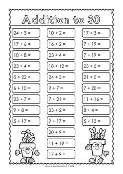 Addition To 30 Varied Worksheets By Olivia Walker