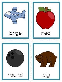 Adjective Picture Cards By Christine Statzel Teachers Pay Teachers