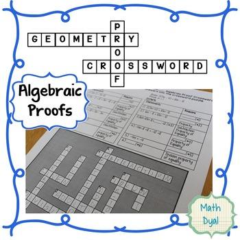Algebraic Proofs Crossword Puzzle By Math Dyal