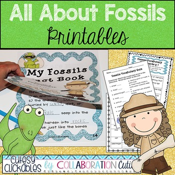 All About Fossils Printables By Cutesy Clickables By