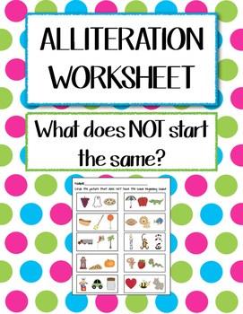 Alliteration Worksheet By Kindergarten Kiddos