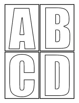 Alphabet Blocks Blank Bubble Letters By Ab Hetzel Tpt