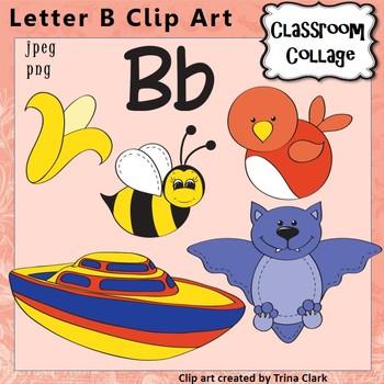 Alphabet Clip Art Letter B Items Start W Letter B Sound Color Pers Comm Use